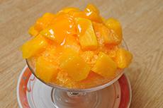 カゴシマプラス/こころの湯/マンゴーかき氷