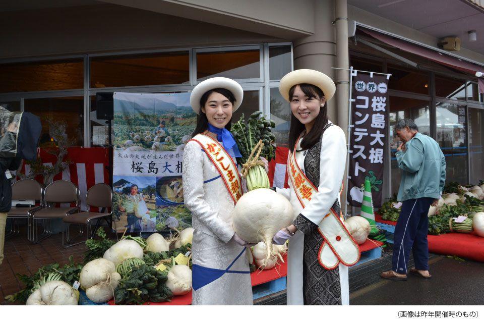 第18回世界一桜島大根コンテスト& 火の島めぐみ館感謝祭