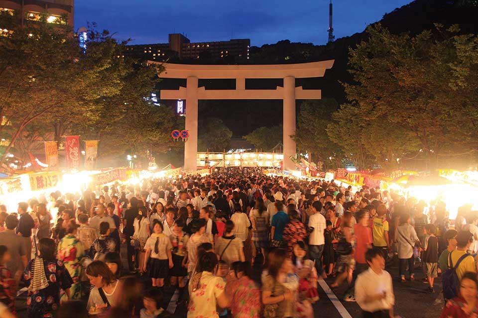 照國神社 六月燈