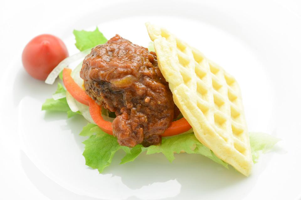 ワッフルバーガー/鶏や清兵衛