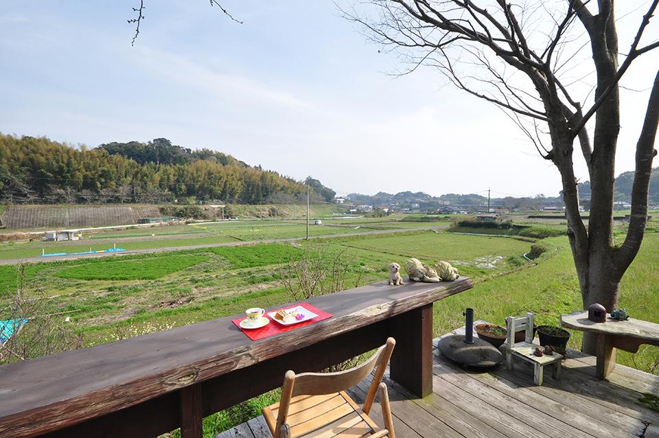 田園の中のカフェで、のんびり春の1日を