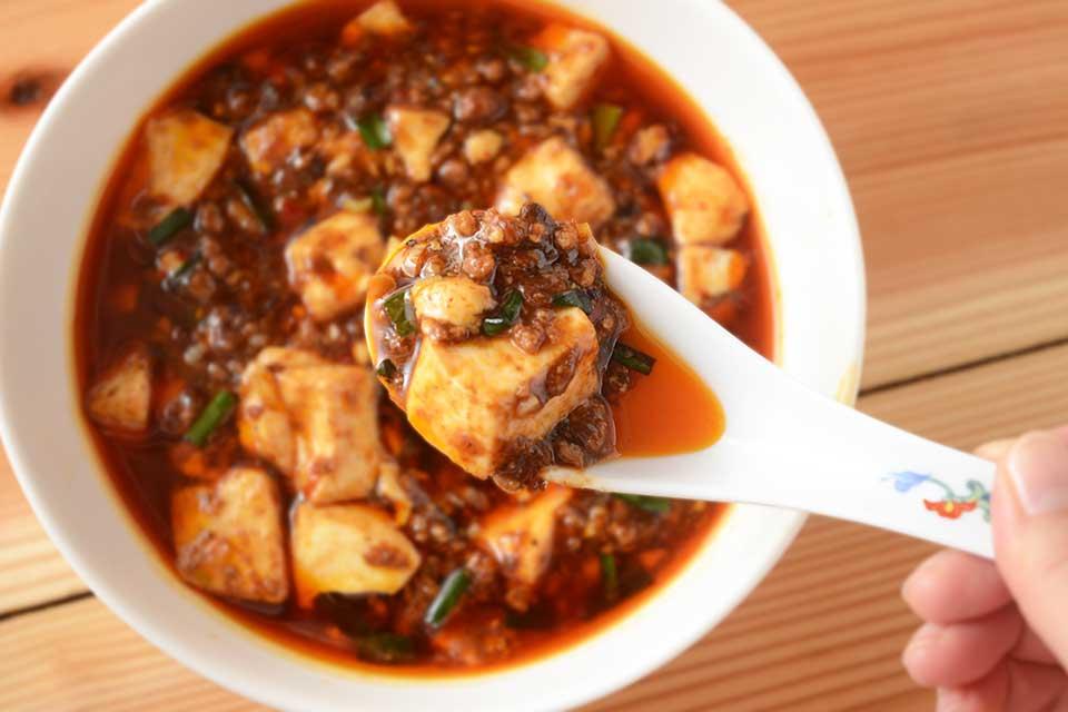【博朱】濃厚肉味噌の旨さにレンゲを置けませんッ!!!旨さノンストップの麻婆豆腐がコレだ!