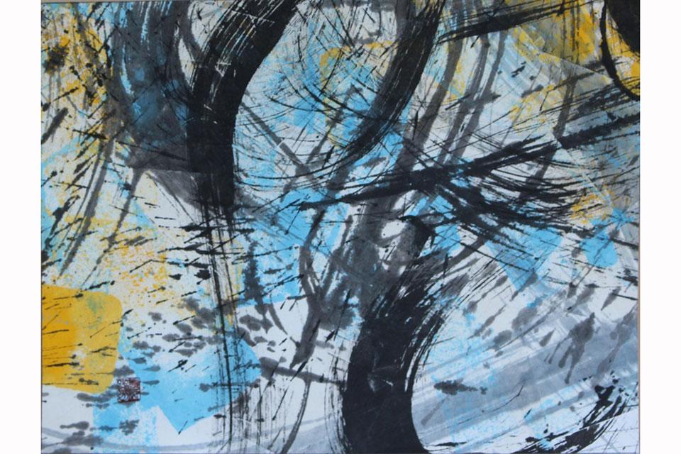 澄郷墨遊展-薩摩abstract-