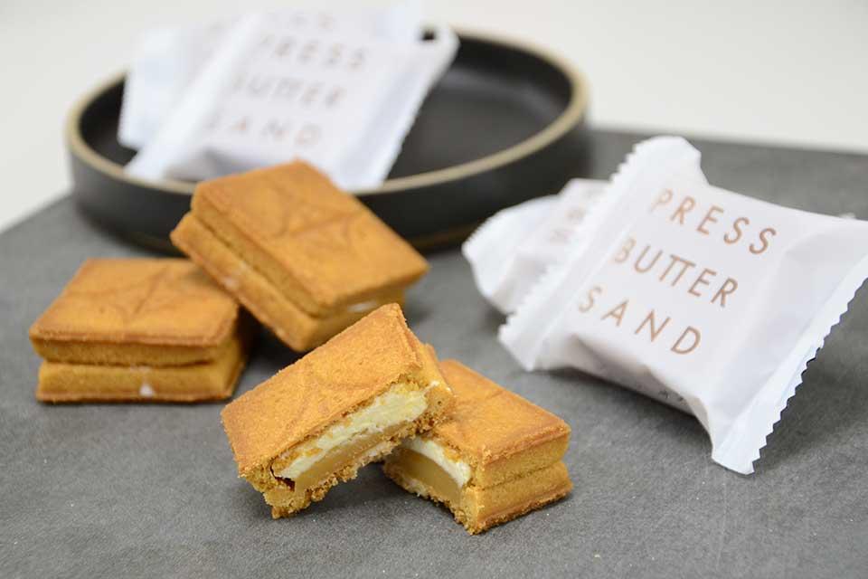【PRESS BUTTER SAND】人気のバターサンドがアミュにて鹿児島初進出!