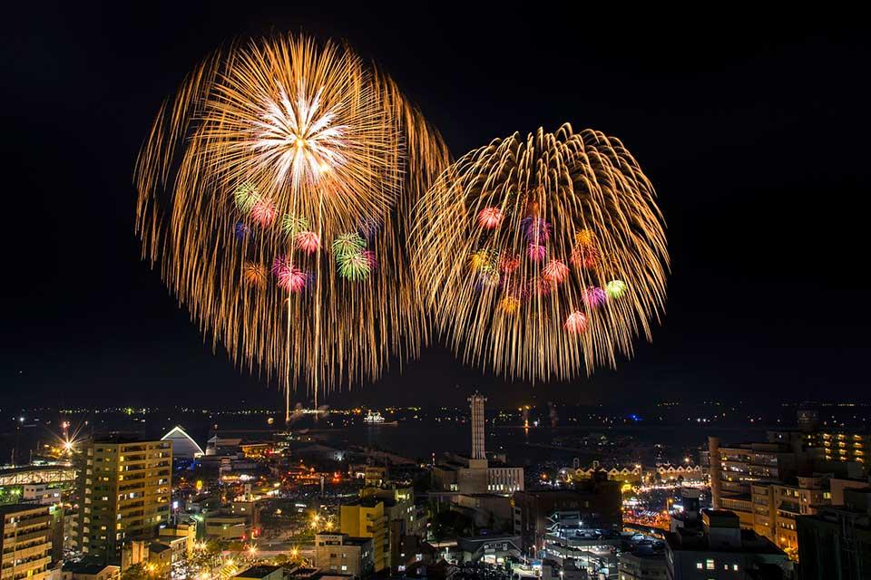 【鹿児島市】鹿児島市制130周年記念 第19回かごしま錦江湾サマーナイト大花火大会