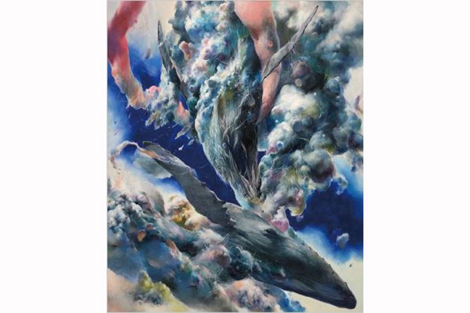 【ギャラリーセージ】山下晴道作品展「青色の持つ温度ー風景×クジラー」