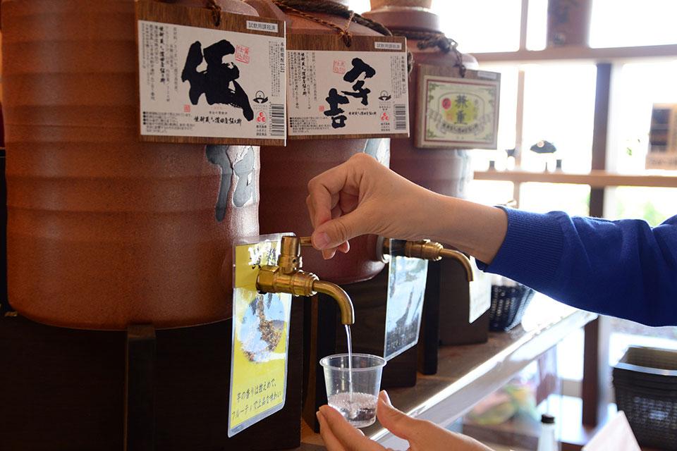 【焼酎蔵 薩州 濵田屋伝兵衛】伝統ある焼酎蔵で、見て、飲んで、食べて、買ってを満喫しよう