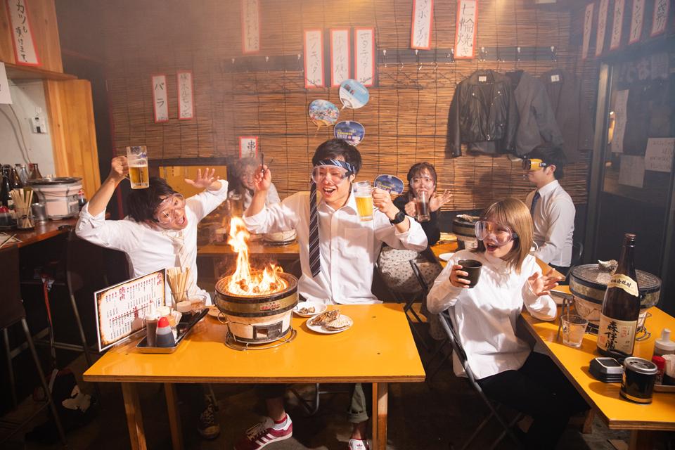 【マグマ酒場】リーズナブルで美味しい!みんなでワイワイ七輪焼きを囲もう