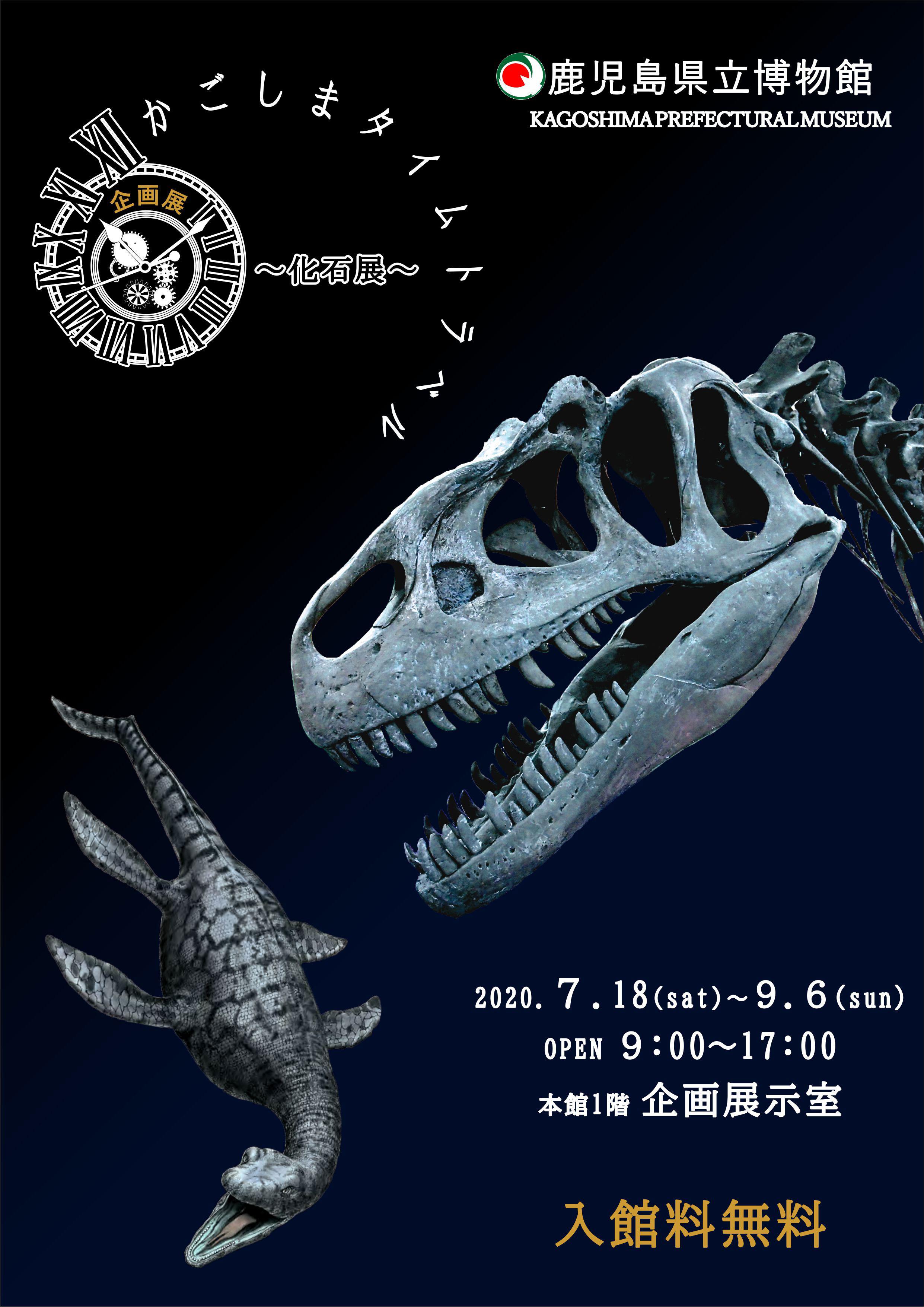 【鹿児島県立博物館】企画展 かごしまタイムトラベル〜化石展〜