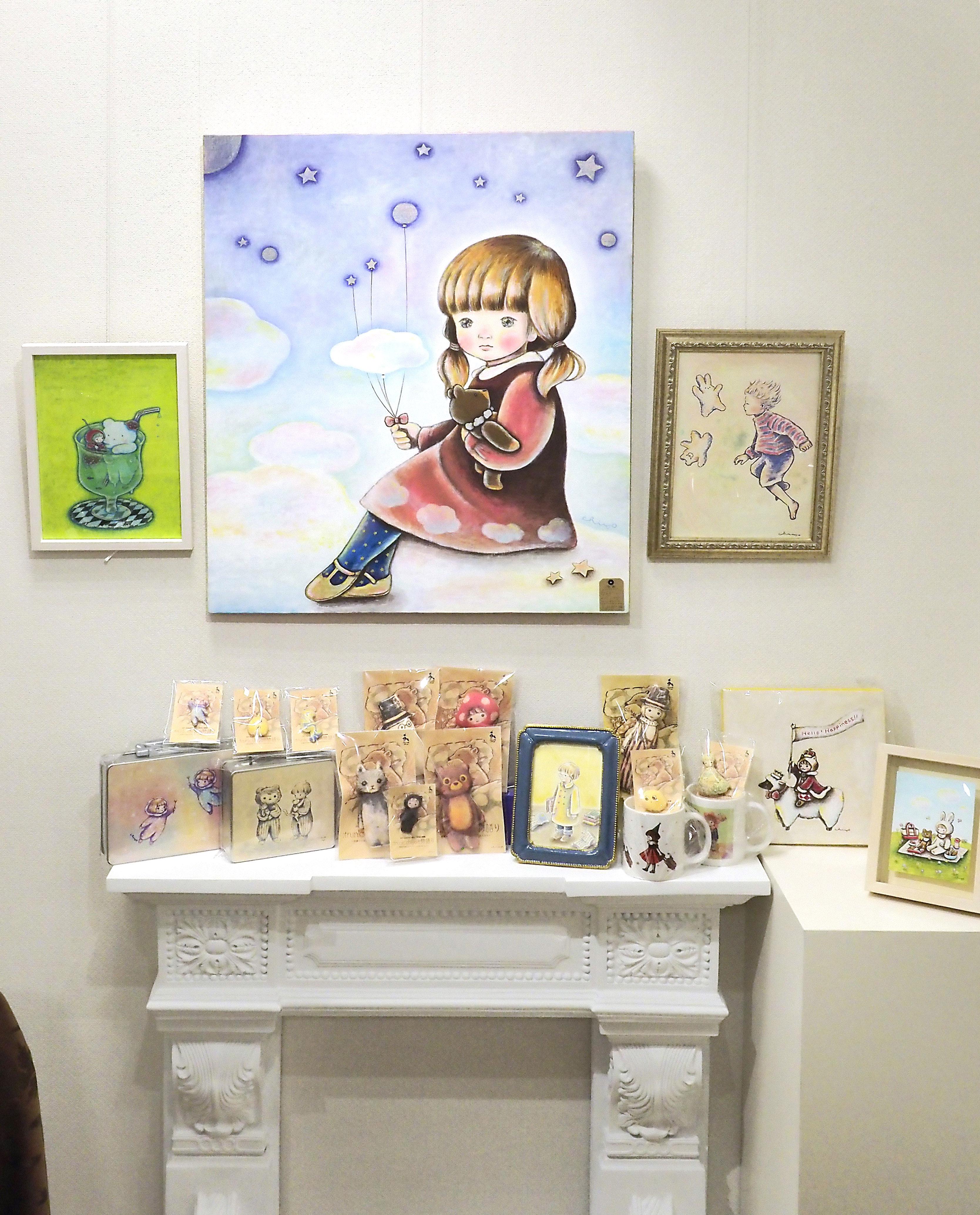 【鹿児島市】art space haru1周年企画展「:frunk: chiyo の物語〜世界中を旅するトランクケースの中の住人たち」