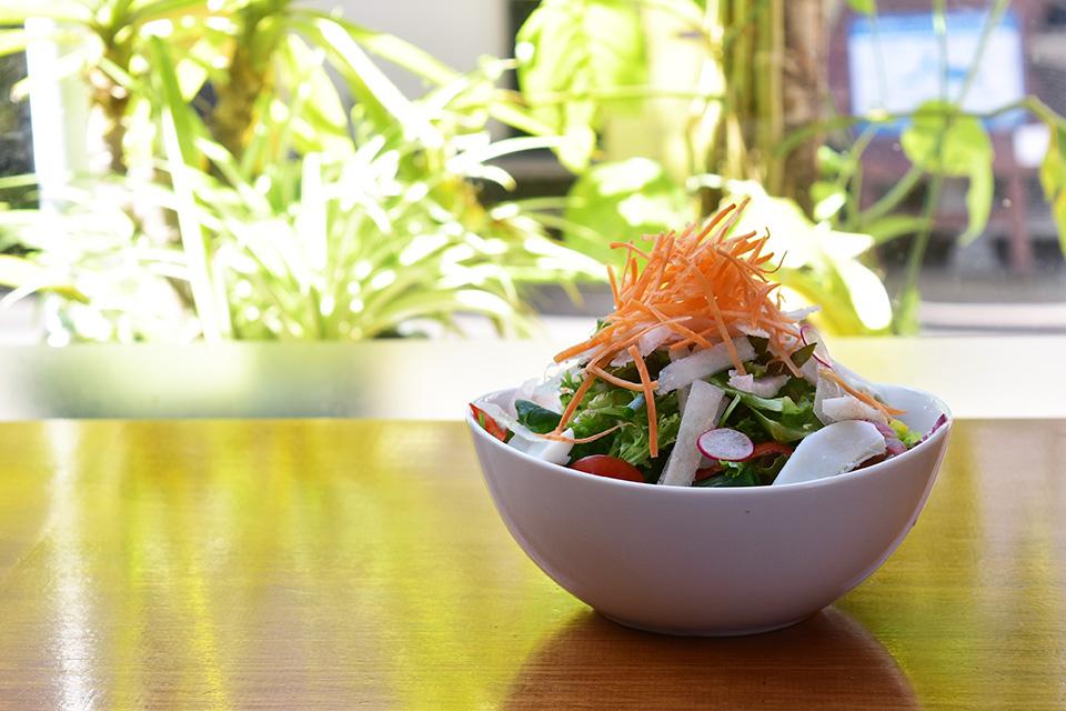 【VEGE CAFE LO】高さ15cm!?のサラダが主役のランチ。そう、ここは野菜をモリモリ食べられるカフェ