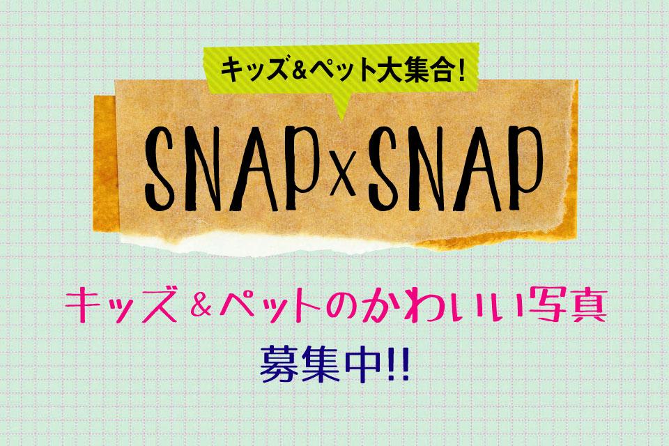 <b>【SNAP×SNAP】</b>キッズとペットのかわいい写真、募集中♪